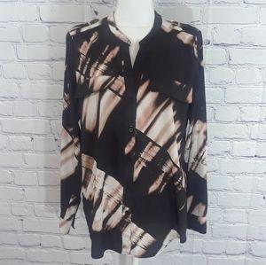 Calvin Klein tie dye blouse Size M